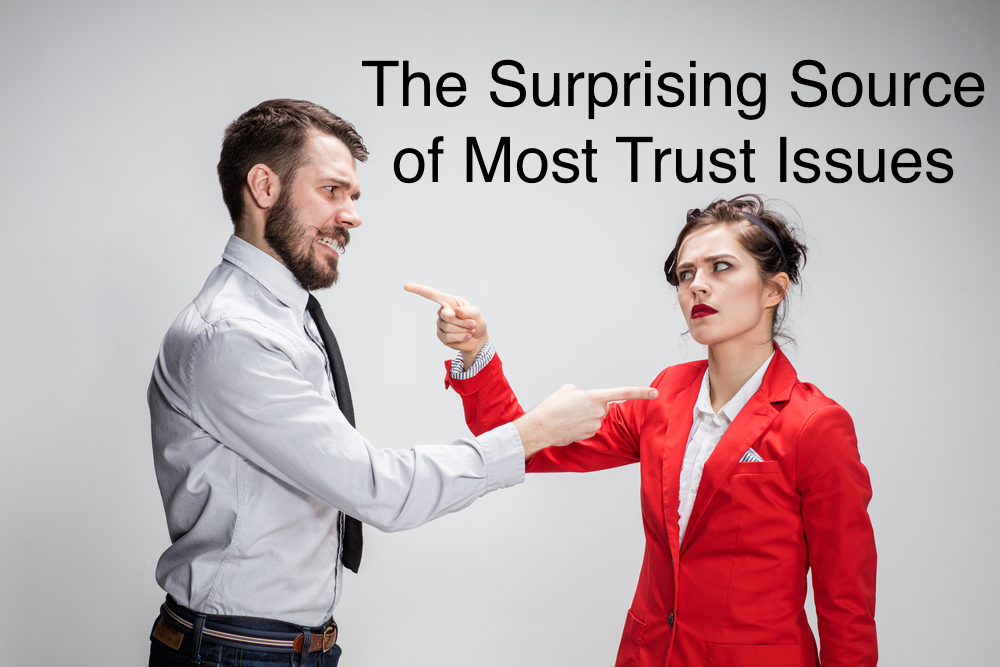You need to know the root cause of trust issues before you can tackle them. Here's an idea for what it might be