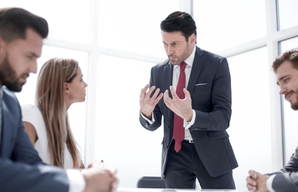 Team having an argument