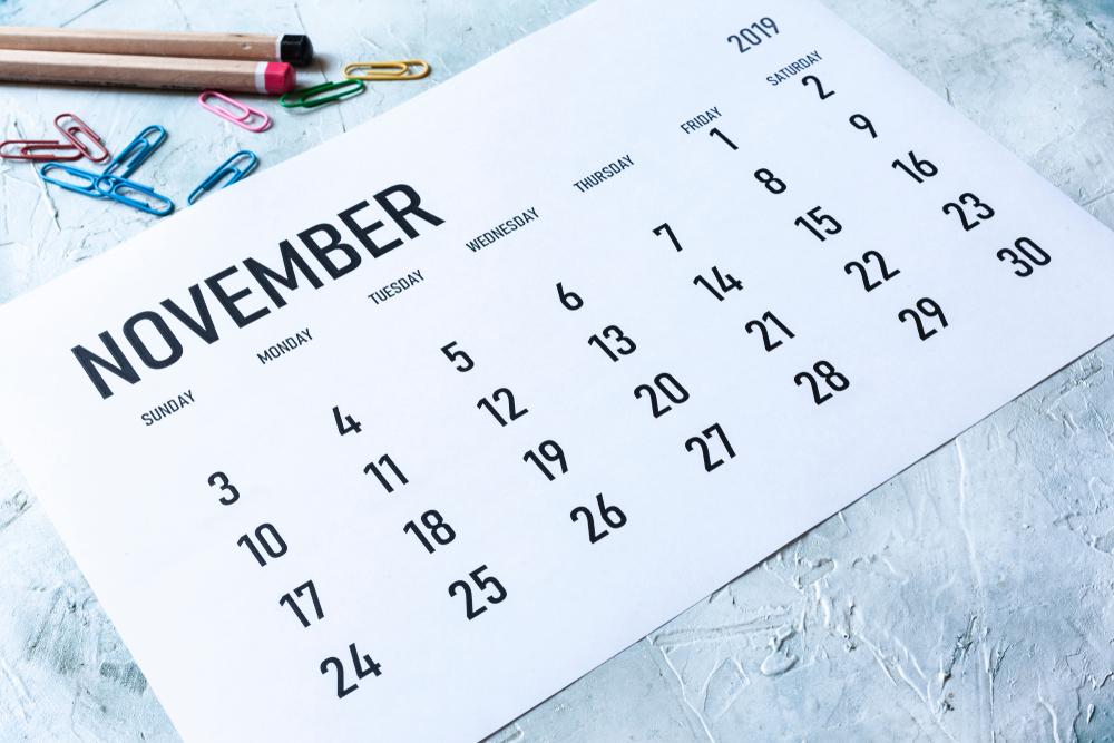 Calendar of November